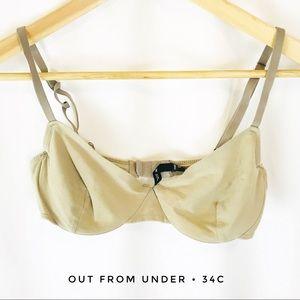 Out from under women's 34c beige tan bra underwire